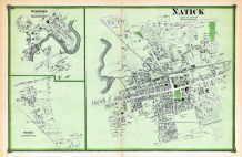 Natick Town, Natick Town South, South Natick Town Middlesex County 1875 Massachusetts  map online